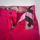 Фото: Джинсы укороченные с подворотами в клетку (артикул B 60004-pink) - изображение 6