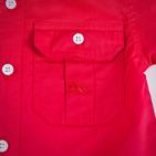Фото: Красная рубашка со вставками по бокам (артикул B 30011-red) - изображение 6