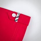 Фото: Красная рубашка со вставками по бокам (артикул B 30011-red) - изображение 7