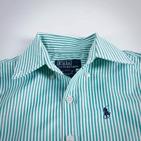 Фото: Рубашка в полоску (артикул RL 30015-green) - изображение 6