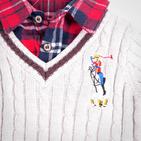 Фото: Свитер с имитацией рубашки  (артикул RL 20007-grey) - изображение 6