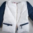 Фото: Куртка с джинсовыми рукавами (артикул O 10102-white) - изображение 5