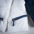 Фото: Куртка с джинсовыми рукавами (артикул O 10102-white) - изображение 6