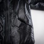 Фото: Куртка кожаная с латками на локтях (артикул O 10105-black) - изображение 5