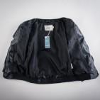 Фото: Куртка кожаная с латками на локтях (артикул O 10105-black) - изображение 7