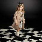 Фото: Пальто с завышенной талией и большими пуговицами (артикул O 10103-brown) - изображение 5