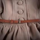 Фото: Пальто с завышенной талией и большими пуговицами (артикул O 10103-brown) - изображение 6