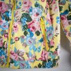 Фото: Куртка с ярким цветочным узором и капюшоном (артикул O 10125-yellow) - изображение 5