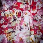 Фото: Плащ для девочки с цветочным рисунком (артикул Gp 10006-red) - изображение 5