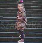 Фото: Плащ для девочки с цветочным рисунком (артикул Gp 10006-red) - изображение 7