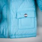Фото: Синтепоновая курточка голубого цвета (артикул O 10074-blue) - изображение 5