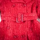 Фото: Плащ гипюровый красного цвета (артикул O 10137-red) - изображение 5