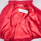Фото: Плащ гипюровый красного цвета (артикул O 10137-red) - изображение 7
