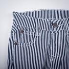 Фото: Стрейчевые полосатые штанишки (артикул Z 60143-black) - изображение 5