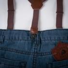 Фото: Джинсы с подтяжками (артикул Z 60146-jeans) - изображение 7