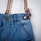 Фото: Джинсы светлые с подтяжками (артикул Z 60134-jeans) - изображение 5