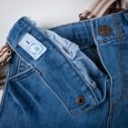 Фото: Джинсы светлые с подтяжками (артикул Z 60134-jeans) - изображение 6