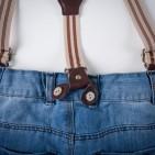 Фото: Джинсы светлые с подтяжками (артикул Z 60134-jeans) - изображение 7