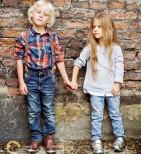 Фото: Джинсы светлые с подтяжками (артикул Z 60134-jeans) - изображение 8