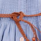 Фото: Сарафан джинсовый с плетеным поясом (артикул Gs 50033-jeans) - изображение 7