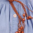 Фото: Сарафан джинсовый с плетеным поясом (артикул Gs 50033-jeans) - изображение 8