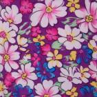 Фото: Обтягивающие лосины в мелкий цветочек (артикул O 60051-violet) - изображение 5