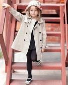 Фото: Детский плащ с погонами и поясом (артикул O 10136-brown) - изображение 9