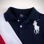 Фото: Футболка Polo с косыми полосами  (артикул RL 40004-deep blue) - изображение 5
