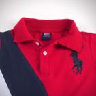 Фото: Футболка Polo с косыми полосами  (артикул RL 40004-red) - изображение 5