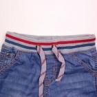 Фото: Шорты джинсовые с трикотажной резинкой и шнурком  (артикул O 60053-jeans) - изображение 5