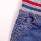 Фото: Шорты джинсовые с трикотажной резинкой и шнурком  (артикул O 60053-jeans) - изображение 6