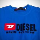 Фото: Diesel. Футболка с принтом бренда  (артикул O 40010-blue) - изображение 5