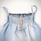 Фото: Джинсовый сарафан с оборкой (артикул Z 50018-jeans) - изображение 5