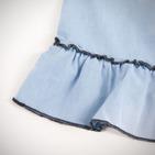 Фото: Джинсовый сарафан с оборкой (артикул Z 50018-jeans) - изображение 6