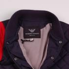 Фото: Куртка стеганая с красными рукавами (артикул O 10156-deep blue-red) - изображение 8