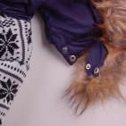 Фото: Зимний костюм с красивой вязаной вставкой (артикул O 70033-deep blue) - изображение 8
