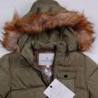 Фото: Зимняя куртка с меховым капюшоном (артикул O 10178-khaki) - изображение 5