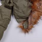 Фото: Зимняя куртка с меховым капюшоном (артикул O 10178-khaki) - изображение 6