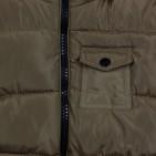 Фото: Зимняя куртка с меховым капюшоном (артикул O 10178-khaki) - изображение 7