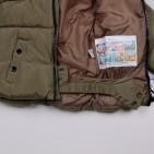 Фото: Зимняя куртка с меховым капюшоном (артикул O 10178-khaki) - изображение 8