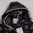 Фото: Пальто удлиненное с капюшоном (артикул O 10177-black) - изображение 6