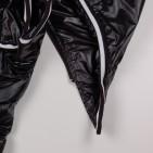 Фото: Пальто удлиненное с капюшоном (артикул O 10177-black) - изображение 8