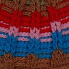 Фото: Шапка крупной вязки полосатая (артикул A 20081-brown) - изображение 5