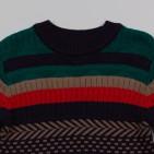 Фото: Вязаный свитер с орнаментом для мальчика (артикул Z 20039-different) - изображение 5