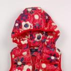 Фото: Красный жилет для девочки с цветочным принтом (артикул Gp 10008-red) - изображение 6