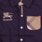 Фото: Рубашка темно-синяя с карманом в клетку (артикул B 30046-deep blue) - изображение 6