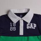 Фото: Футболка фирменная с воротником и логотипом (артикул Gp 40031-blue-green) - изображение 5