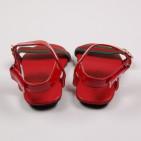 Фото: Босоножки с логотипом бренда (артикул Sh 10055-red) - изображение 6