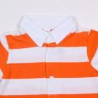 Фото: Футболка  в яркую полоску (артикул O 40111-orange-white) - изображение 6