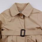 Фото: Плащ с поясом на талии бежевого цвета (артикул O 10211-beige) - изображение 5